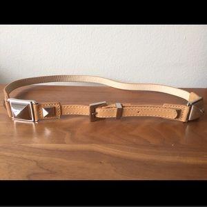 BCBGMaxazria Tan Skinny Belt NWOT